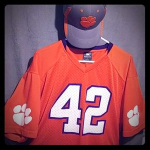 Clemson 🐅 Tigers jersey large 42-44 and clemson t
